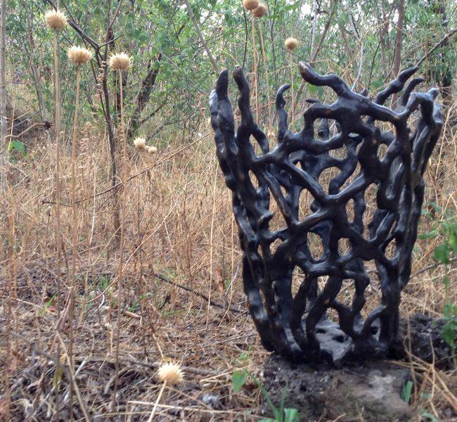 Interwoven - bronze sculpture