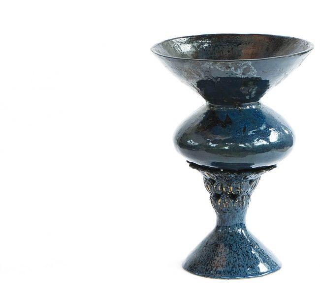 blue ceramics artwork