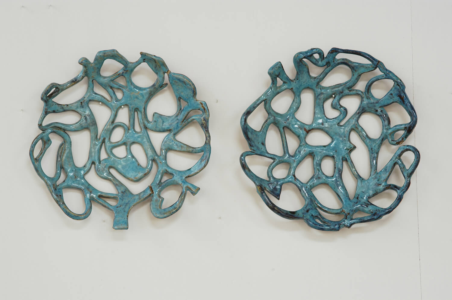 unravelling ceramic wall pieces
