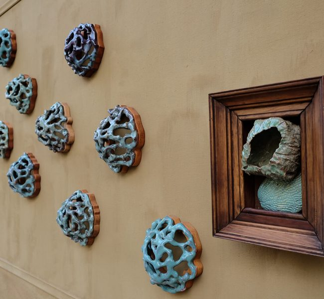 Knots ceramics wall piece