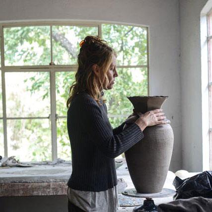 karen Lovenguth ceramics at work